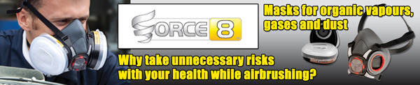 Force 8 Half-Mask Twin Respirator for organic gases/vapours and dust/particles