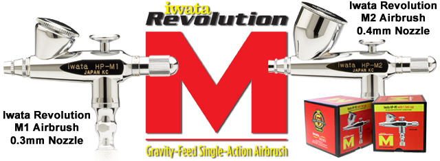 Iwata Revolution M Series airbrushes