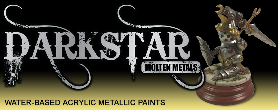 Darkstar Molten Metals - Water-based acrylic metallic paints and finely-ground powder pigments.