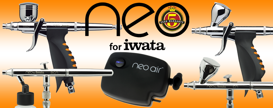 NEO for Iwata airbrushes and NEO Air Compressors