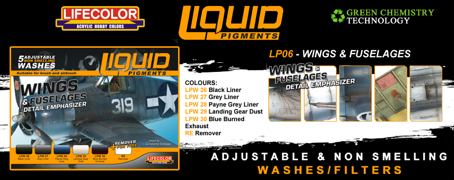 New Lifecolor Liquid Pigments - Wings and Fuselages Set