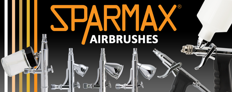 Sparmax Airbrushes inlcuding the new MAX-4 airbrush.
