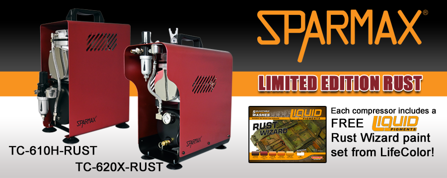 Sparmax Limited Edition Rust Compressors